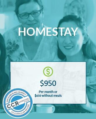VIU homestay program monthly price