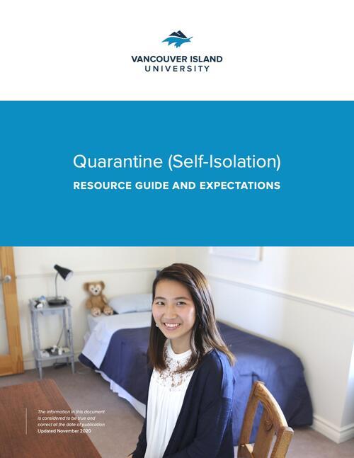 Cover of VIU's Quarantine (Self-Isolation) Resource Guide