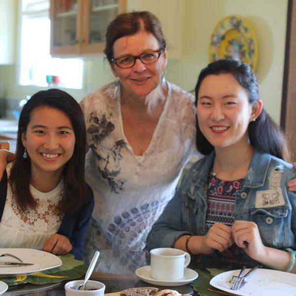 VIU Homestay host with VIU students.