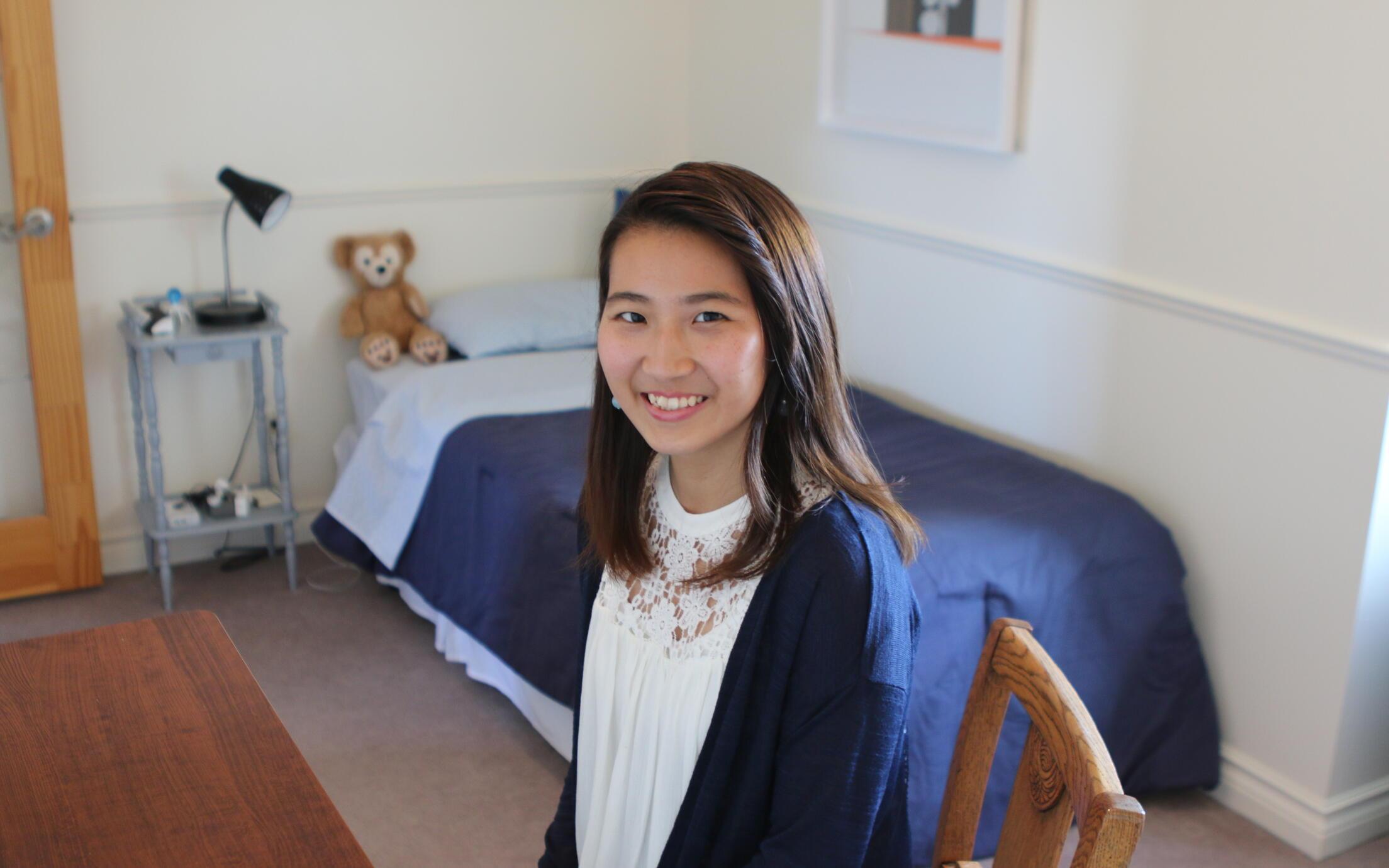 VIU Homestay student and bedroom