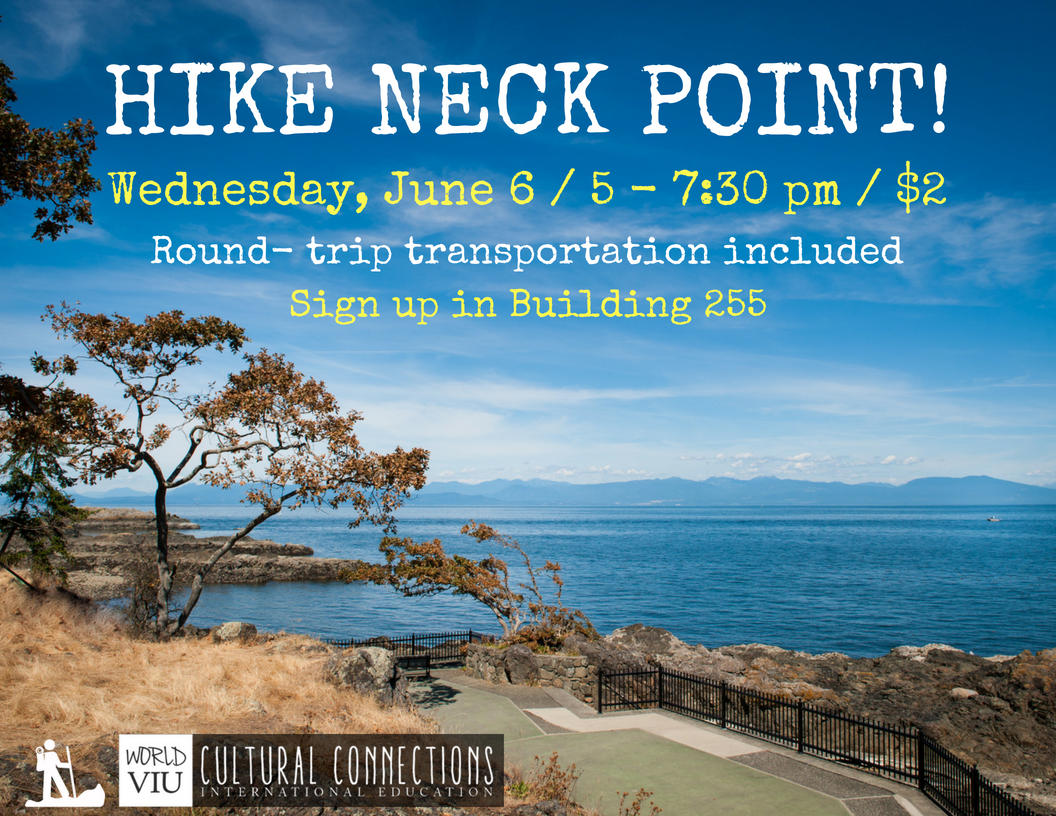 VIU Cultural Connections - Nanaimo's Top Local Hikes - Neck Point Park - June 6, 2018