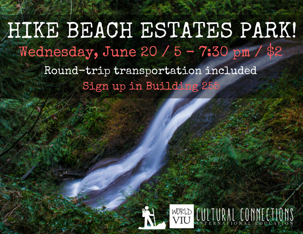 VIU Cultural Connections - Nanaimo's Top Local Hikes - Beach Estates Park - June 20, 2018