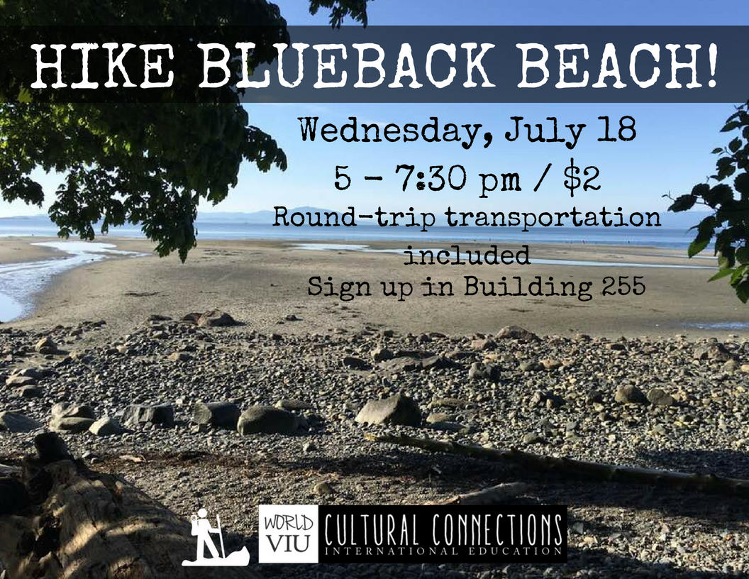 VIU Cultural Connections - Nanaimo's Top Local Hikes - Blueback Beach - July 18, 2018