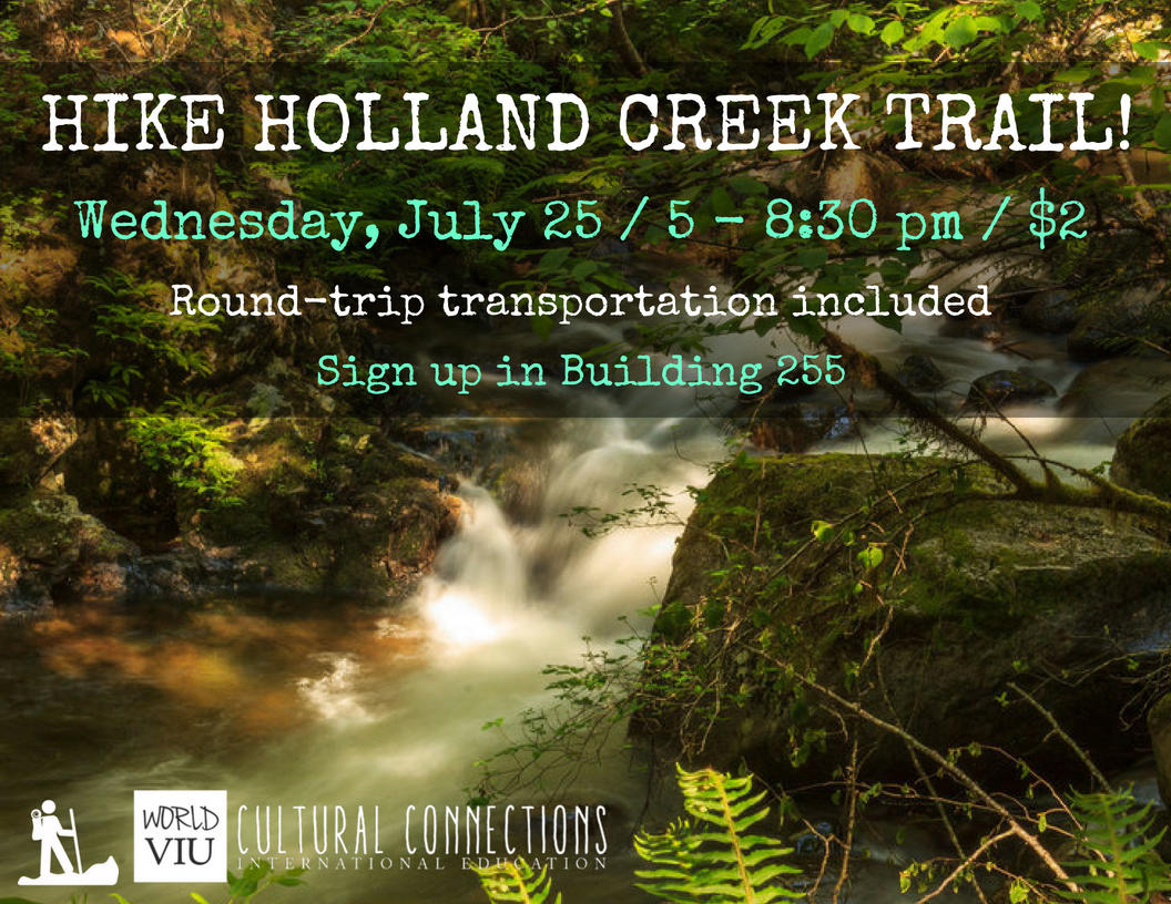 VIU Cultural Connections - Nanaimo's Top Local Hikes - Holland Creek Trail - July 25, 2018