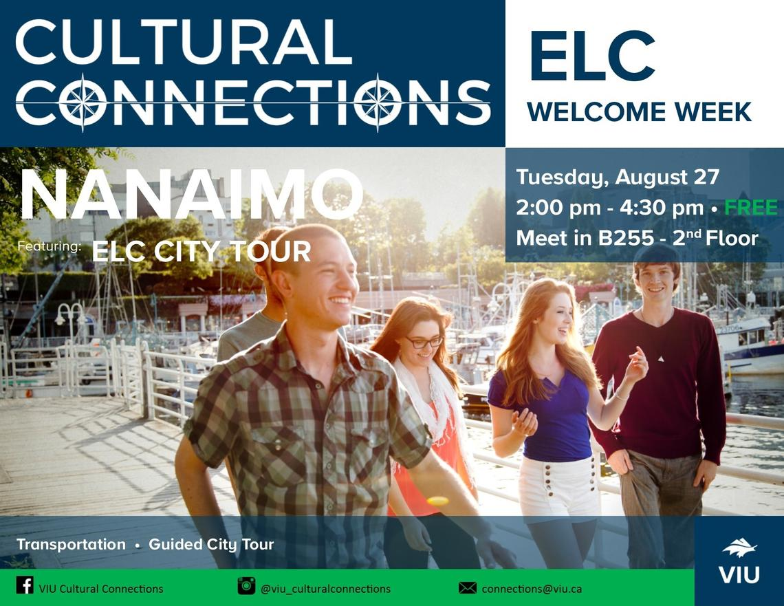 VIU - Cultural Connections - ELC Welcome Week - City Tour Poster