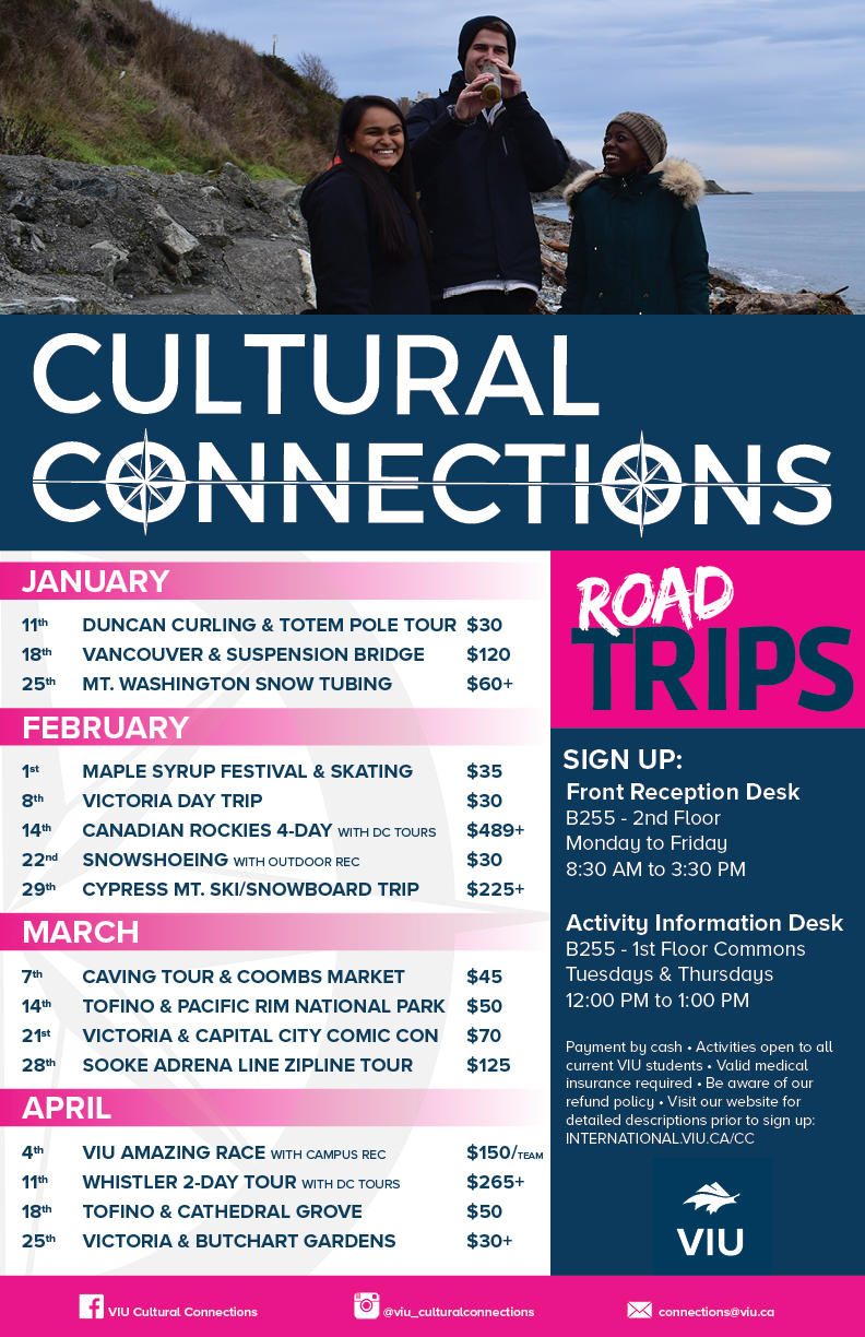 CC Road Trips - Spring Semester 2020
