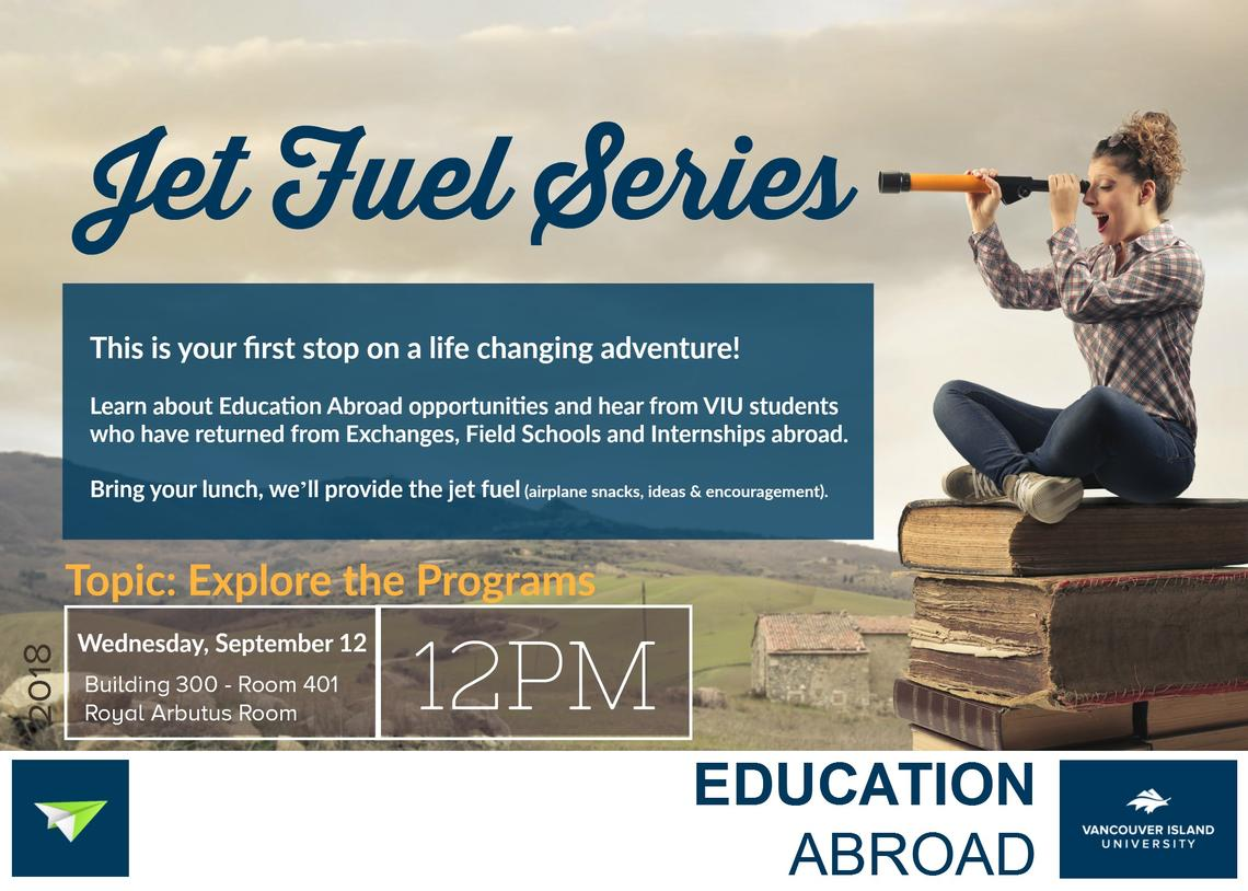 "Education Abroad ""Jet Fuel"" Info Session - September 12, 2018"