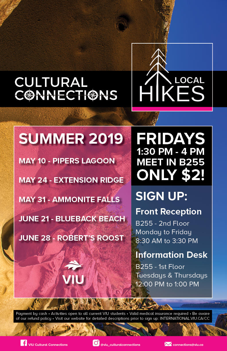 CC Local Hikes Summer Schedule