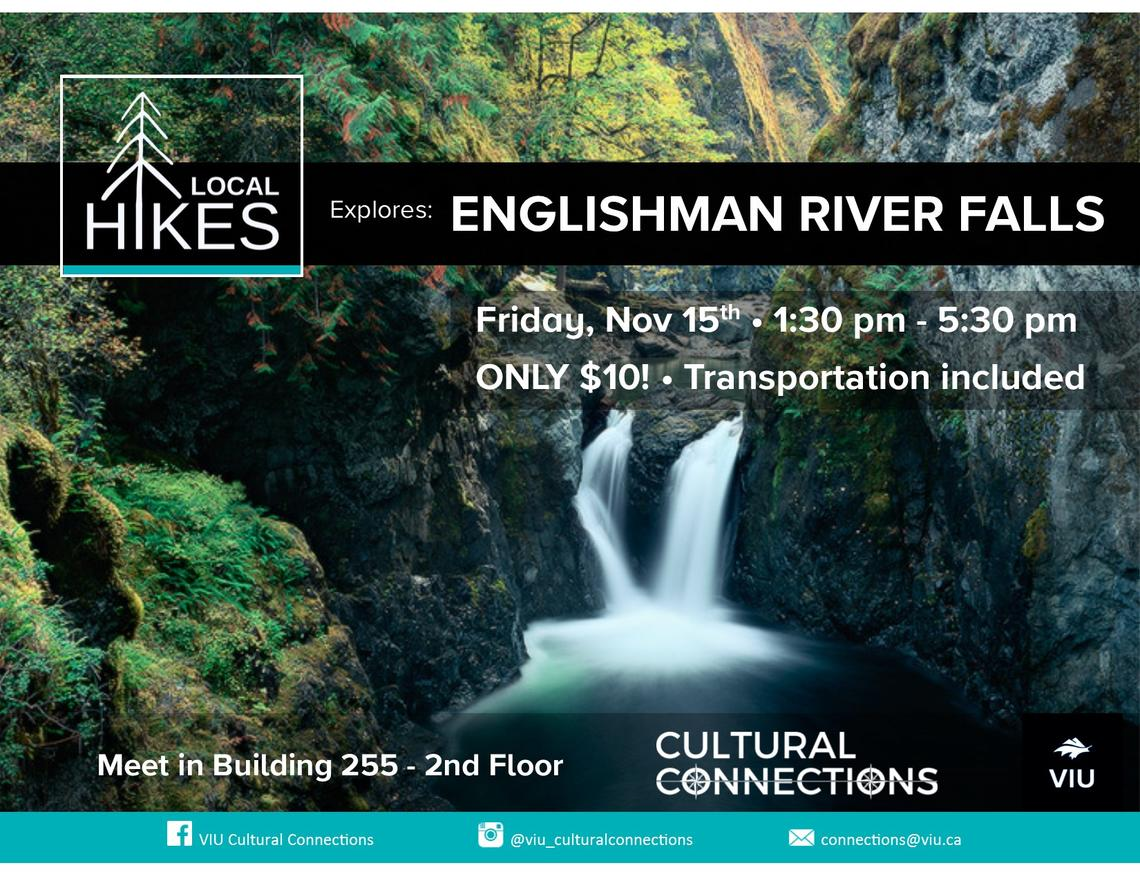 VIU - Cultural Connections - Local Hikes - Englishman River Falls