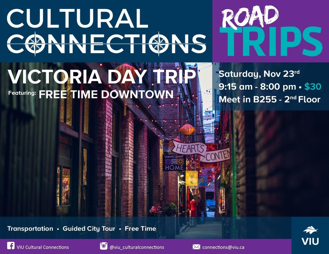 VIU - Cultural Connections - Road Trips - Victoria Day Trip