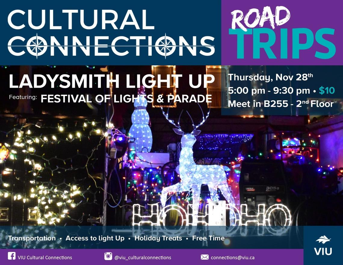 VIU - Cultural Connections - Road Trips - Ladysmith Light Up