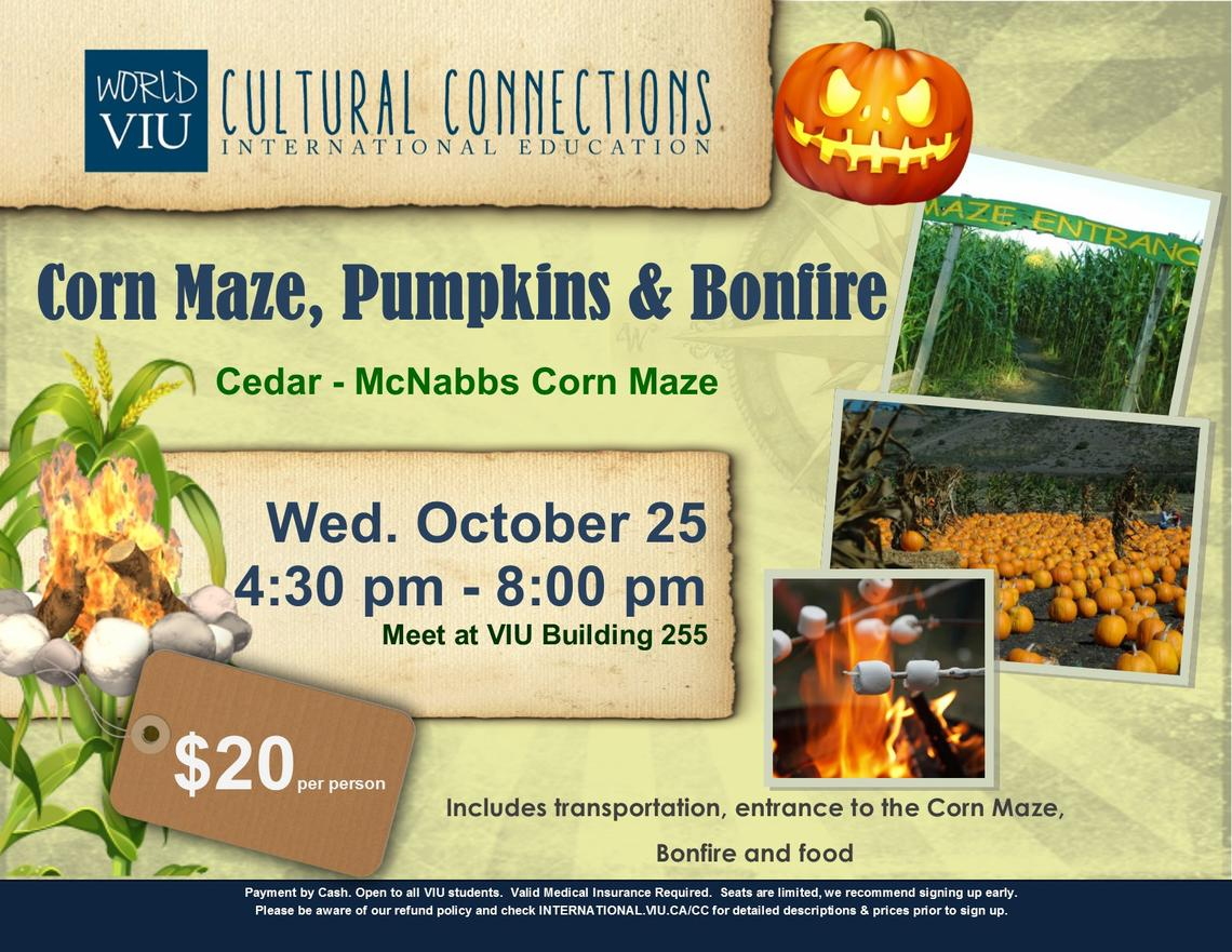 October 25 2017 Corn Maze & Bonfire