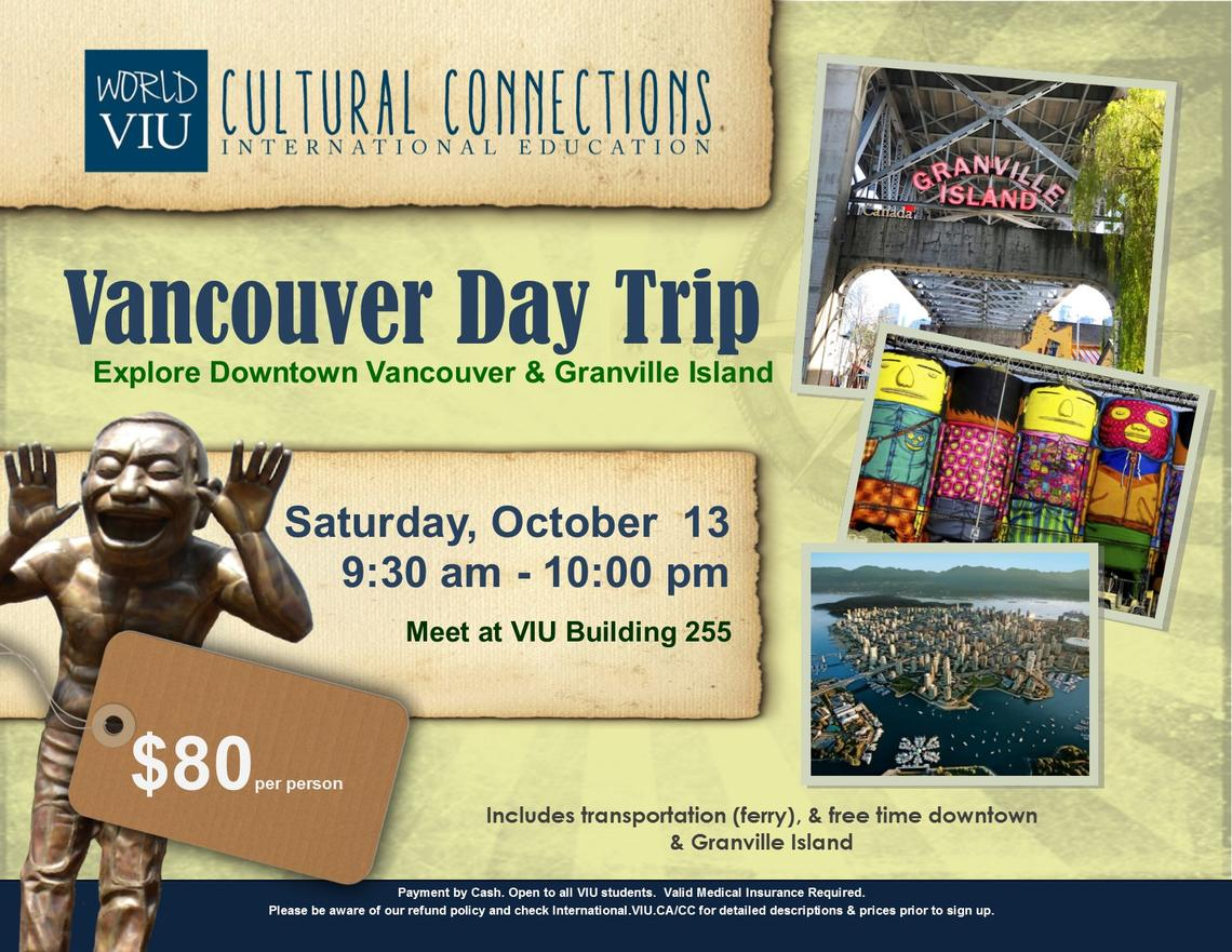 VIU Cultural Connections - Vancouver & Granville Island