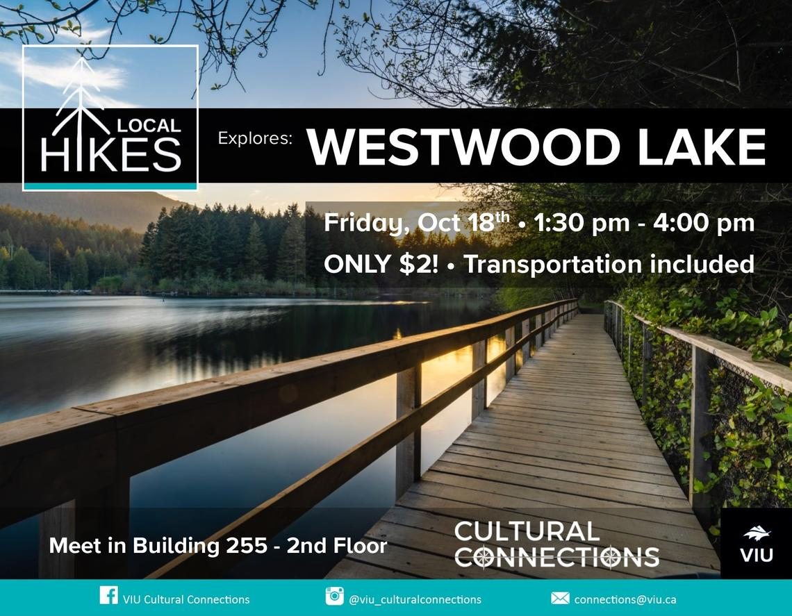 VIU - Cultural Connections - Local Hikes - Westwood Lake