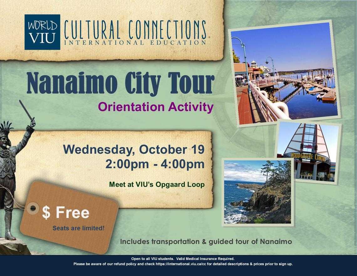 VIU, Cultural Connections, Nanaimo, Orientation
