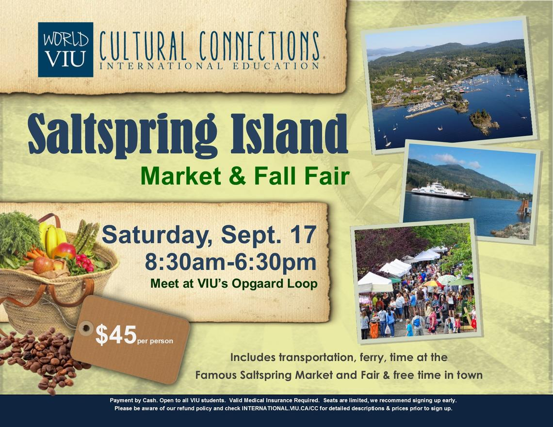 Salspring Island, VIU, Cultural Connections