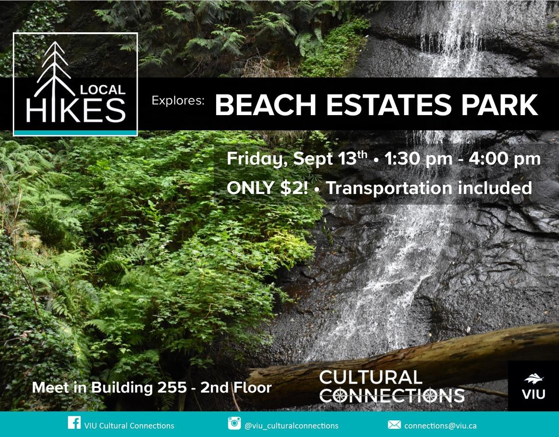 VIU - Cultural Connections - Local Hikes - Beach Estates