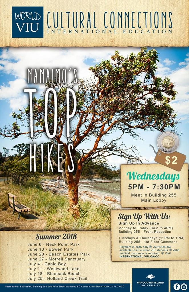 International Education - Cultural Connections - Nanaimo's Top Ten Hikes - Summer 2018