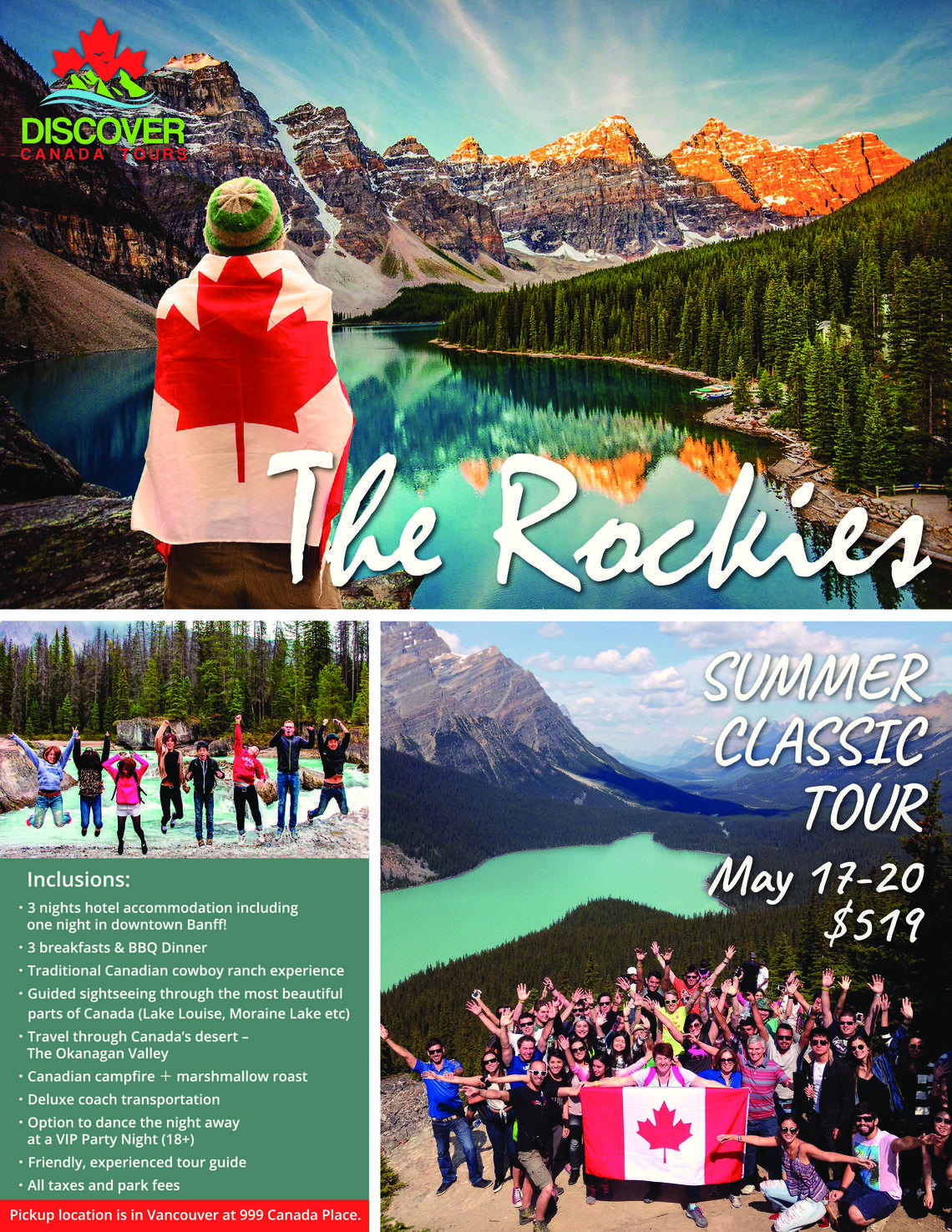 Discover Canada Tours - Canadian Rockies Summer Classic Tour