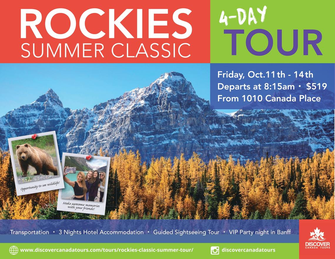 Discover Canada Tours - Rockies Summer Classic Tour