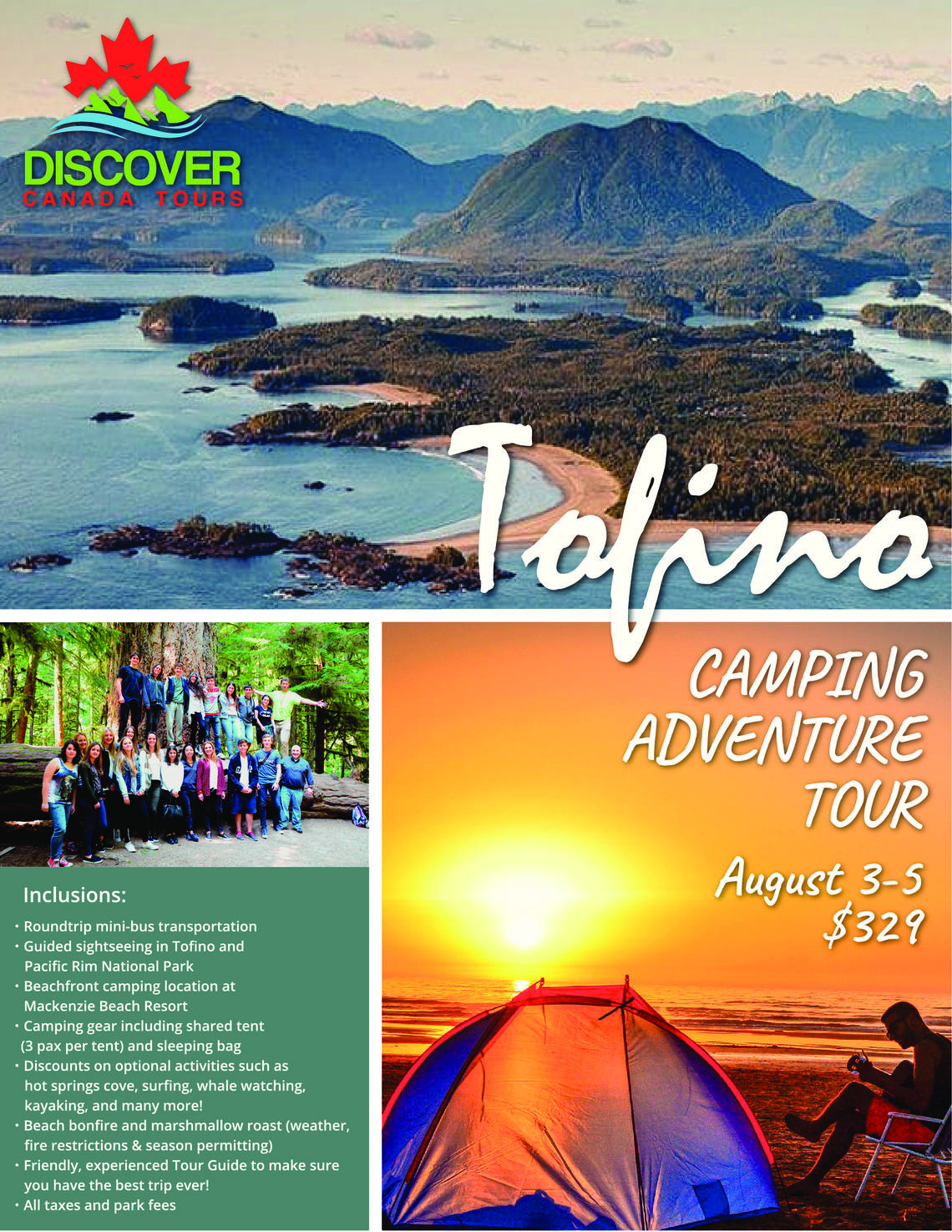 Discover Canada Tours - Tofino Ultimate Camping Tour