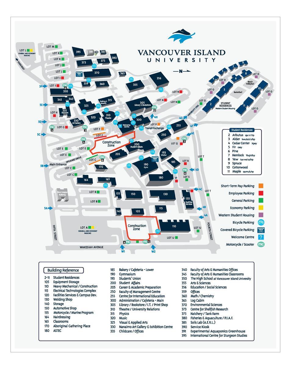 viu nanaimo campus map English Language Centre Orientation International Education Viu viu nanaimo campus map