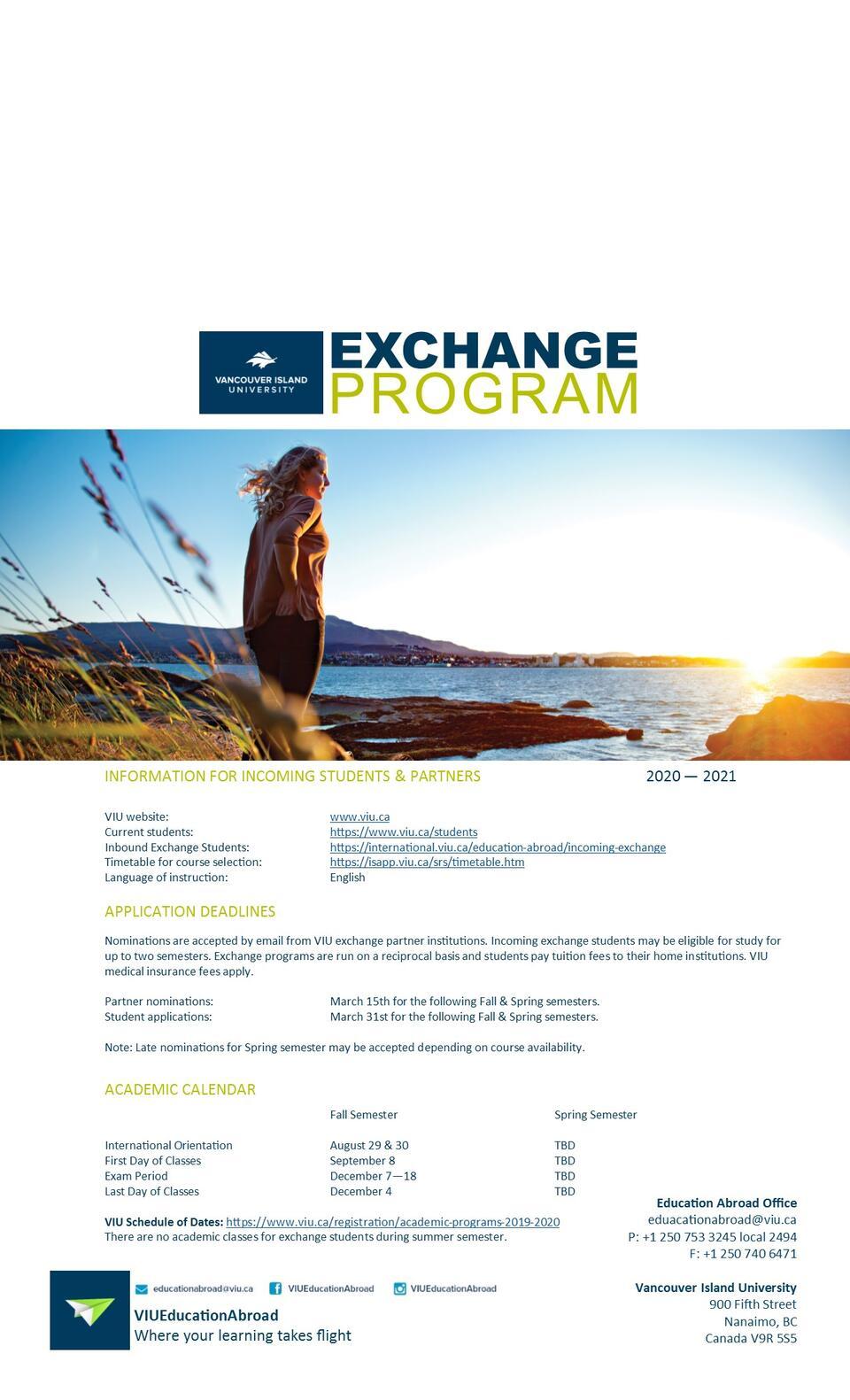 Incoming Exchange Fact Sheet